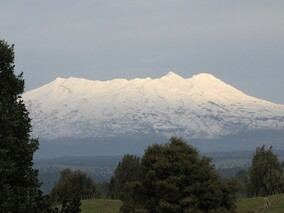 accommodation with view of Mt Ruapehu